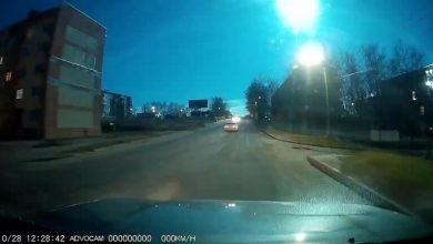 صورة انفجار نيزك كبير في سماء جزيرة سخالين بشرق روسيا (فيديو)