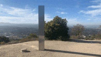 صورة هيكل غامض آخر يظهر ويختفي في ولاية كاليفورنيا