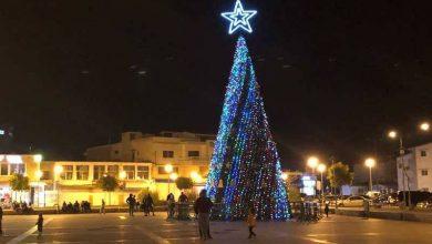 صورة بلدية صور أضاءت شجرة الميلاد في ساحة القسم