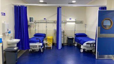 صورة افتتاح قسم للكورونا في مستشفى سبلين الحكومي